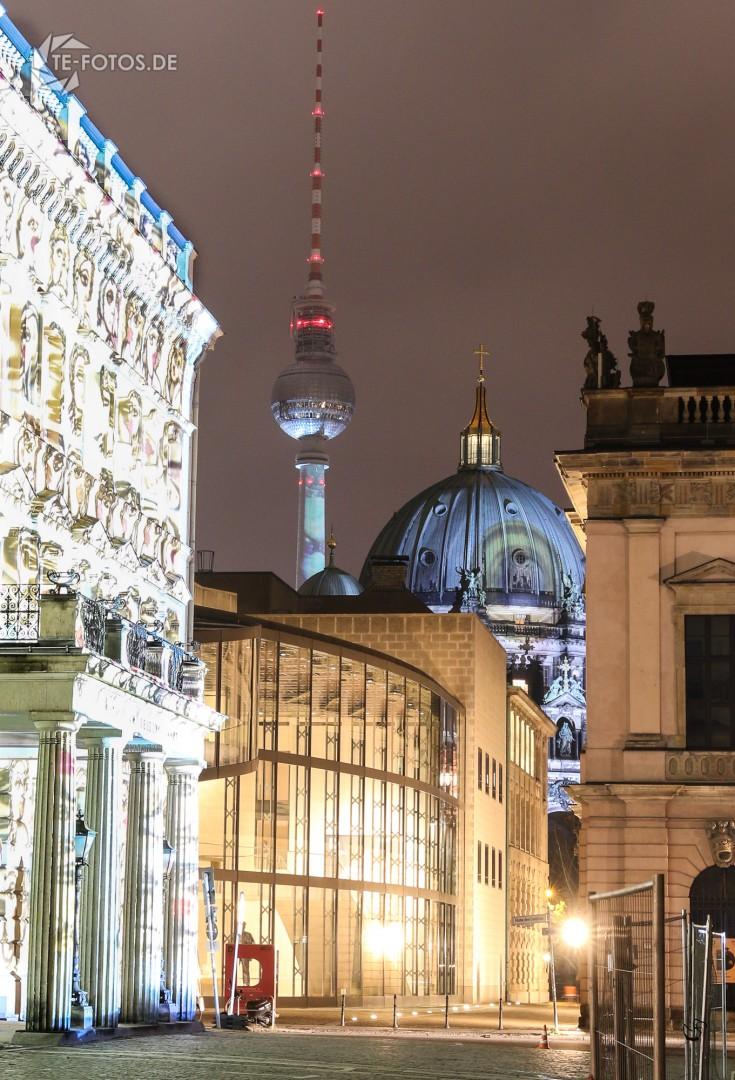 Berliner Fernsehturm, Berliner Dom und Palais am Festungsgraben beim FOL 2017