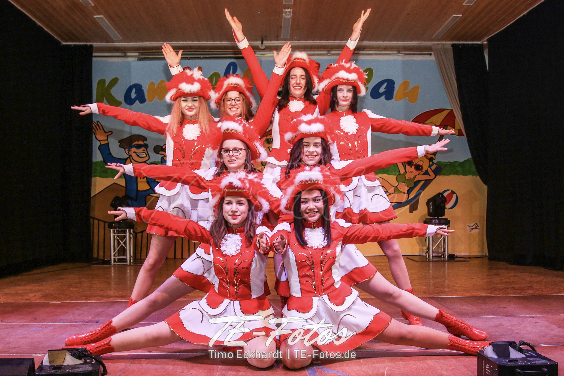 Karneval in Schoningen, Wiensen, Vernawahlshausen, Offensen - hier im Bild die Schoninger Garde