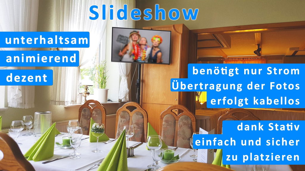 Perfekte Erweiterung zur Fotobox - Slideshow Monitor