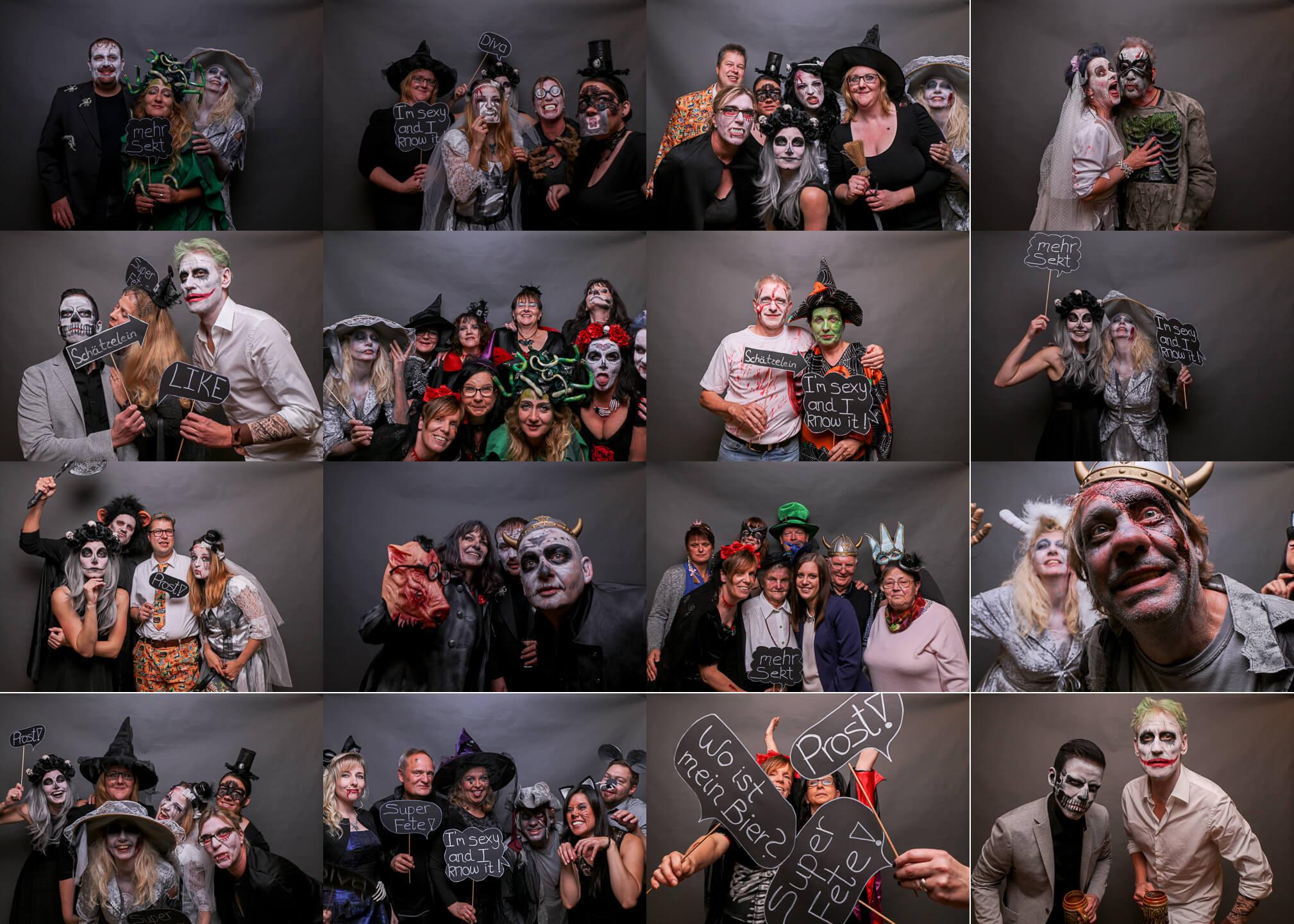 Fotobox bei der Halloweenparty im Gewölbekeller der Burg Hardegsen