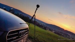 Panorama Fotografie - Sonnenuntergang im Weserbergland