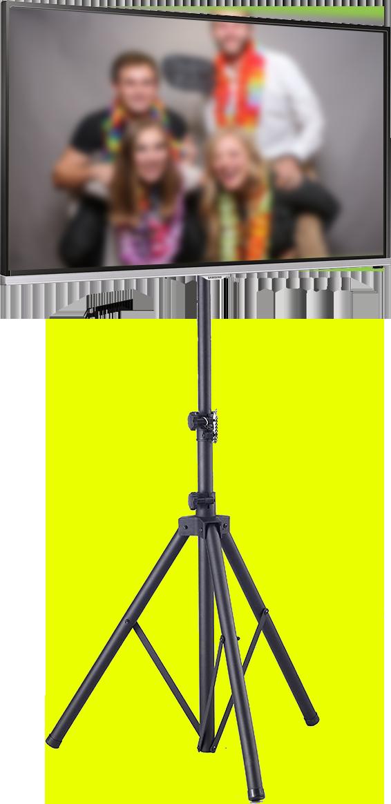 Monitor mit stabilem Stativ z.B. für Messe