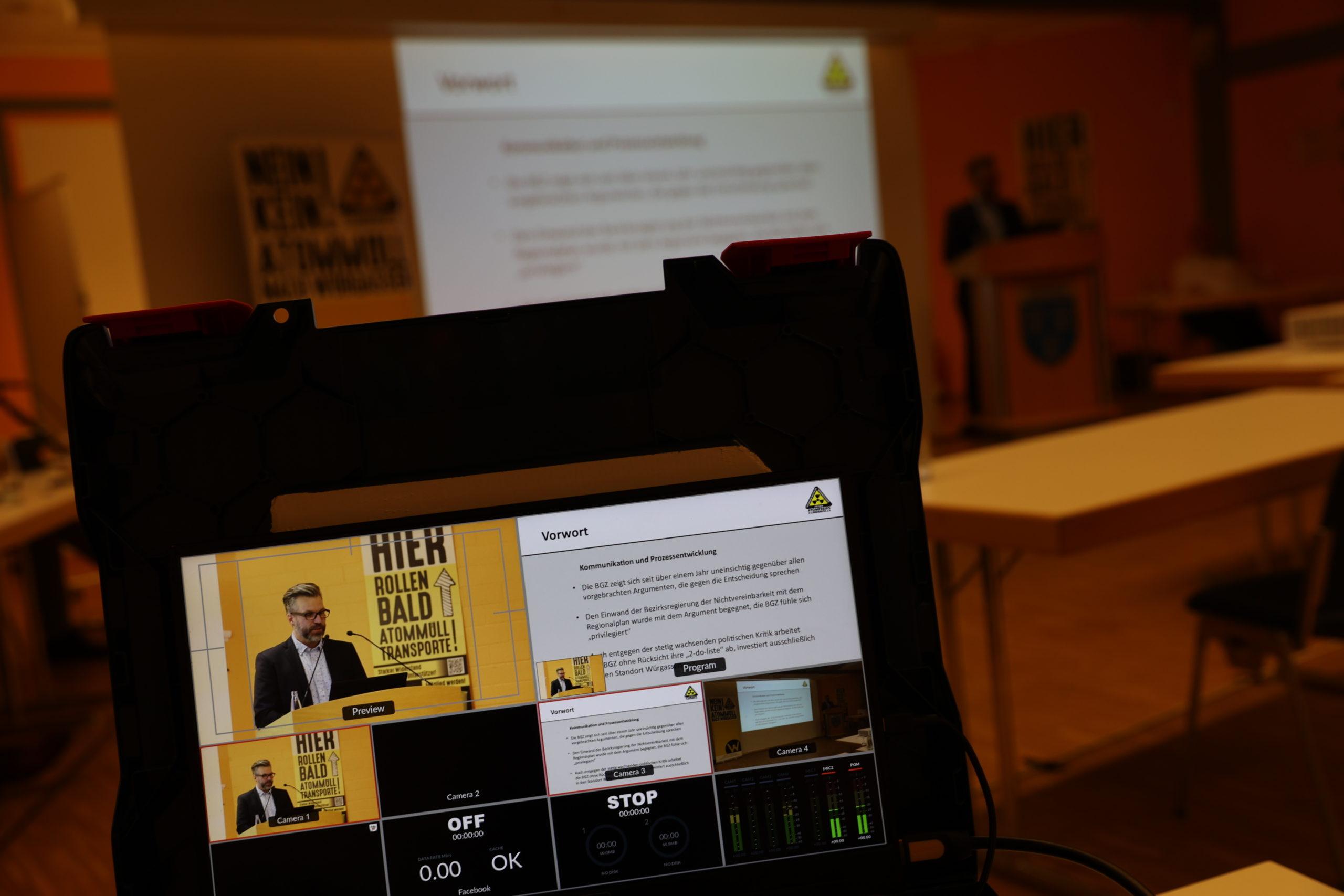 BI Würgassen - zentrales Atommüll Lager Pressekonferenz